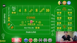 How To Win THOUSANDS Playing CRAPS At CASINOS