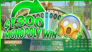 $1300+ INSANE MONOPOLY WIN + BLACKJACK AND SLOT WINS!