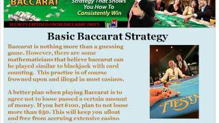 Winning Strategies For Baccarat