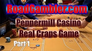 Real craps game at Peppermill Casino in Reno, Nevada, Part 1
