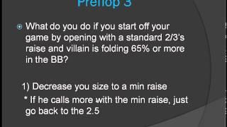 Preflop Heads Up Poker Strategy