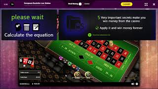 Roulette strategy video 3 stage 2 real money /deposit $60 profit $800