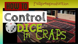 CRAPS LIVE STRATEGY, how to control dice in craps!! 36 rolls