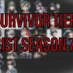 Identity V Survivor Tier List BEST AND WORST! (Top Ranked Player) SEASON 7