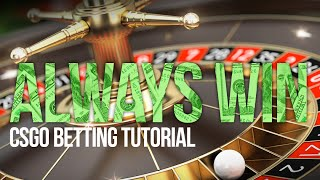 HOW TO BET ON ROULETTE AND NEVER LOSE! (Counter Strike Betting Tutorial)