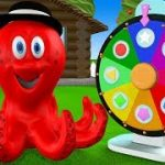 Learn figurines with octopus – Roulette with figurines – Cartoon for Kids