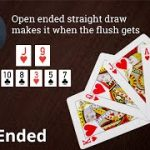 Poker Strategy: Open ended straight draw makes it when the flush gets there