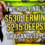 TWO HUGE FINAL TABLES!! $530 TERMINATOR + $215 DEEPSTACK!! | PokerStaples Stream Highlights