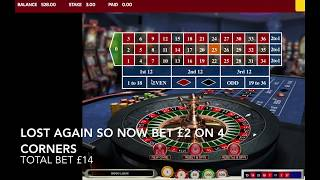 Roulette corner betting strategy over 99 % chance of winning