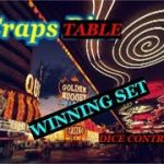 Craps table Dice control winning set