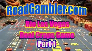 Real Craps Game at Rio Hotel and Casino, Las Vegas, Part 1