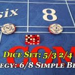 Craps: 5/3 2/4 6 & 8 place bet  w/ pass and odds