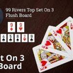 Poker Strategy: 99 Rivers Top Set On 3 Flush Board