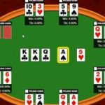 Texas Holdem Poker: different hands with winning possibilities analysis.