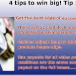 Winning At Video Poker- The Only 4 Tips You Need To Win Big.