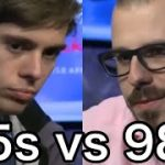 65s vs 98o|texas hold'em|Poker Database|A Terrible Strategy about Pre-flop Re-raising