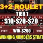 3+3+2 Roulette Strategy-Race to $1000, Tier 1, Session 1 – $10-$20-$20