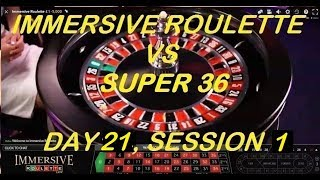 €4200+ Completed – Immersive Roulette VS SUPER 36 Roulette Software – Day 21, Session -1