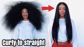 Curly to Straight Hair – NO Frizz (NEW 2018) | jasmeannnn