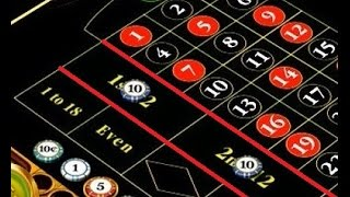 Roulette strategy on two Dozen with a 1, 2, 3, 4, 5 betting sequence