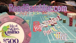 High Stakes Real Craps Game: Put Bets, Part 1 of 2