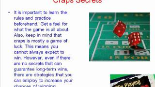 Free Craps Secrets To Help You Win