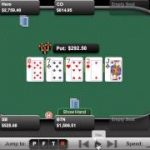 Online poker strategy – Top full house facing a raise with deep stacks