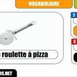 [Français] [Vocabulaire] # Une roulette à pizza