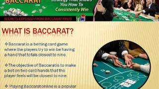 Online Baccarat – How To Play and WIN