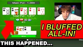 Lets Play Online Texas Holdem Poker REAL MONEY! Heads Up Game 3