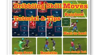 Fifamobile19 , Dribbling Skill moves Tutorial & Tips, Rainbow, Roulette, heel to heel, step over etc