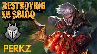 Destroying EU SoloQ: G2 Perkz – Varus Bot Lane – KDA 12/1/9