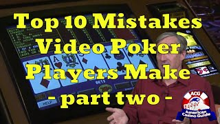 """Top 10 Mistakes Video Poker Players Make with Mike """"Wizard of Odds"""" Shackleford – part two"""