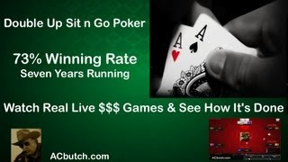 Double Up Poker – 73% Winning  – Learn How It's Done