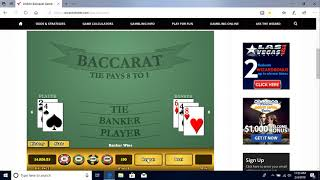 Baccarat Winning Strategy with M.M. 2/4/19