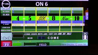 Advanced Craps Strategy (Excel) Wins $1317.00 || How to Play Craps || Gamble @ own Risk