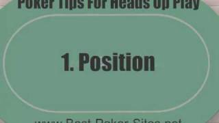 Heads Up Poker Strategy – 9 Top Tips For Playing Heads Up