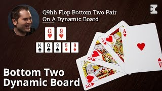Poker Strategy: Q9hh Flop Bottom Two Pair On A Dynamic Board