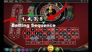 "ROULETTE STRATEGY : ""4 Street"" – BETTING SYSTEM : ""x1"" ""x4"" ""x3"" ""x5"" Bet Units Sequence"