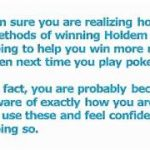 Texas Hold Em Poker Tips – 5 Methods To Win At Holdem