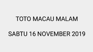PREDIKSI TOTO MACAU HARI SABTU 16 NOVEMBER 2019