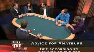 FULL TILT POKER LEARN FROM THE PROS:The art of the bet
