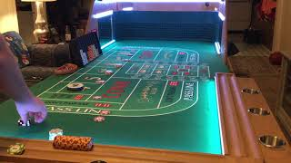 LED Craps Table Live Action Come Bet Strategy!