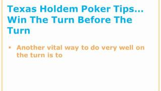 Texas Hold Em Poker Tips – How To Play The Turn Properly