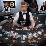 LIVE BLACKJACK 50€ TO 800€ – STRAIGHT FLUSH SIDE BET WIN – MUST SEE