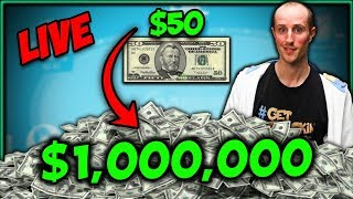 $50 to $1,000,000!! – BANKROLL CHALLENGE Day 1 Highlights @ GG Poker