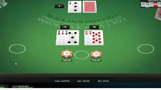 [REAL MONEY] $1-$5 Blackjack Betting And Winning  @ Sugar House Casino For Fun – US Players Welcome!