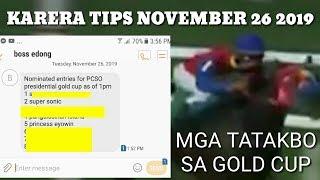 KARERA TIPS NOVEMBER 26 2019 by MASTER MANDARAYA