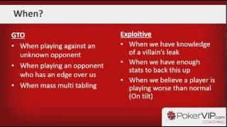 Poker Strategy Game Theory: GTO v Exploitative