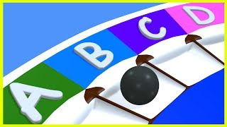 Learn ABCD Letters & Alphabets with The Roulette Game | Nursery Rhymes & Poems for Kids & Children
